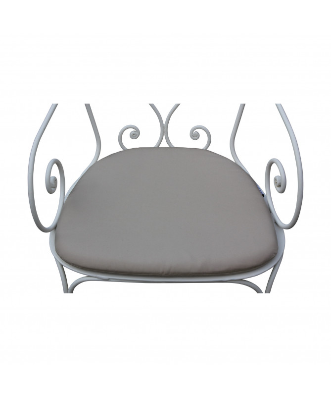 coussin de fauteuil en fer forgé