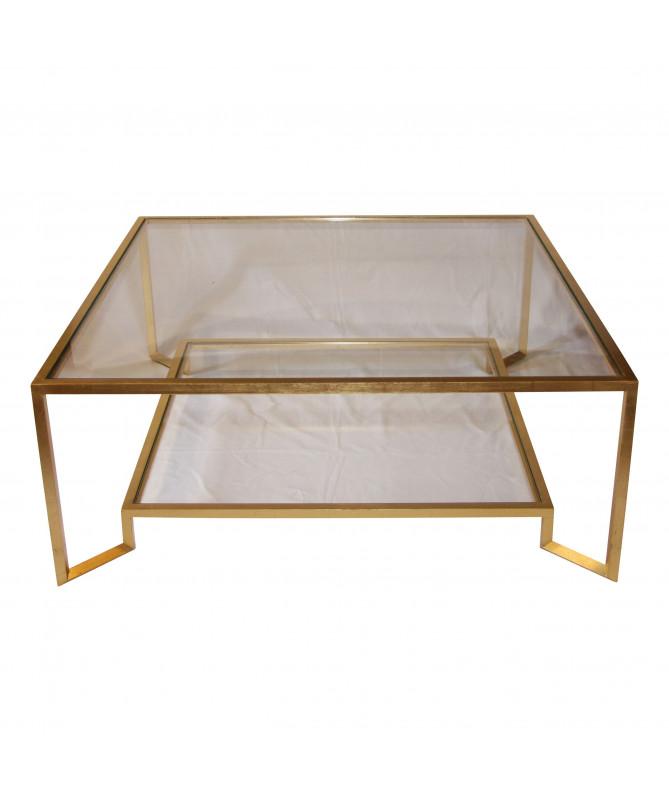 table basse de salon à 2 plateaux
