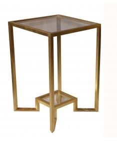 table canapé en fer massif doré