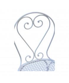 Dossier de chaise en forme de coeur